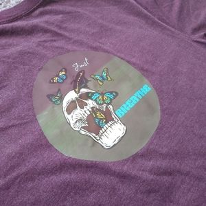 Other - Skull and Butterfly T shirt